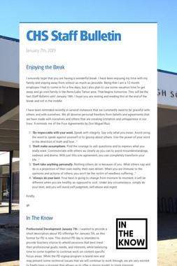 CHS Staff Bulletin