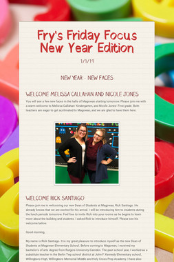 Fry's Friday Focus New Year Edition