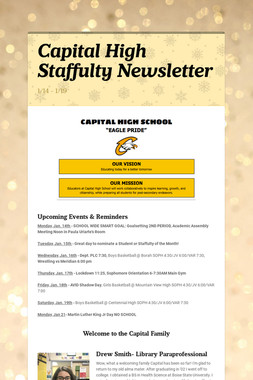 Capital High Staffulty Newsletter