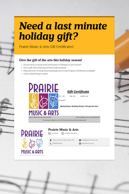Need a last minute holiday gift?
