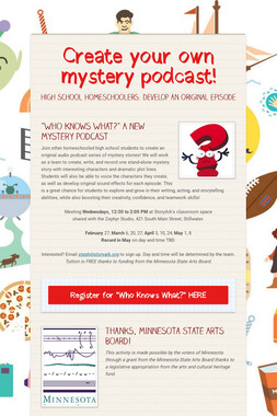Create your own mystery podcast!