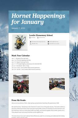 Hornet Happenings for January