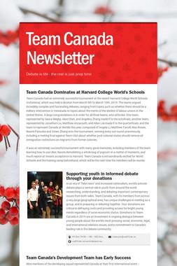 Team Canada Newsletter