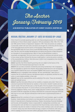 The Anchor January/February 2019