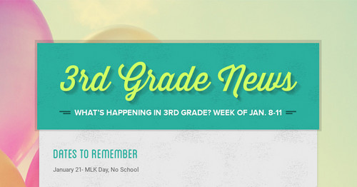 3rd Grade News Smore Newsletters For Education