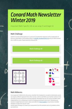 Conard Math Newsletter Winter 2019