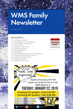 WMS Family Newsletter