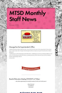 MTSD Monthly Staff News