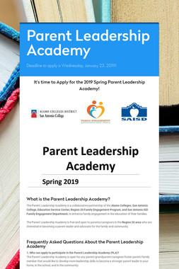 Parent Leadership Academy
