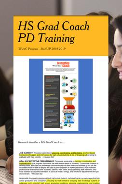 HS Grad Coach PD Training
