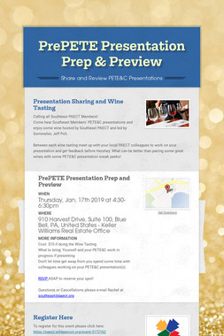 PrePETE Presentation Prep & Preview