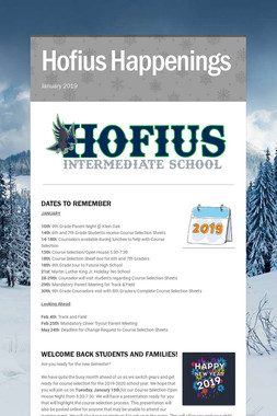Hofius Happenings