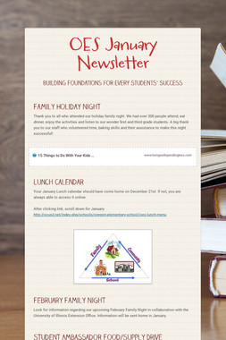 OES January Newsletter