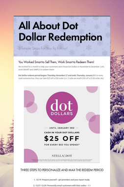 All About Dot Dollar Redemption