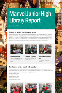 Manvel Junior High Library Report