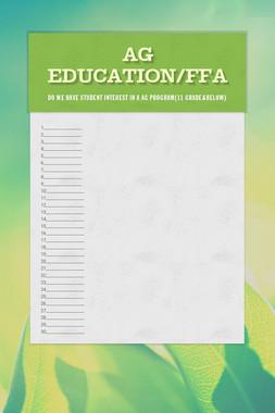 Ag Education/FFA