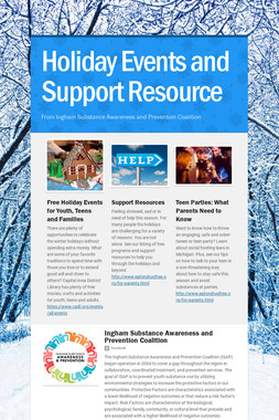 Holiday Events and Support Resource
