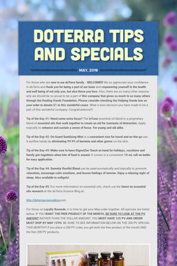 doTERRA TIPS AND SPECIALS