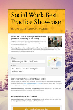 Social Work Best Practice Showcase