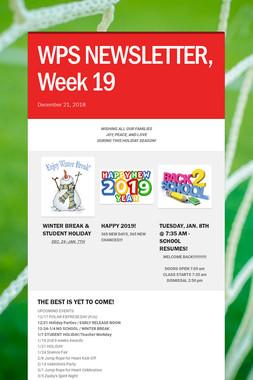 WPS NEWSLETTER, Week 19