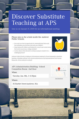 Discover Substitute Teaching at APS