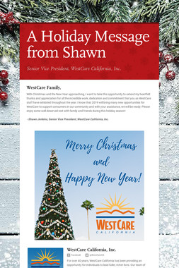 A Holiday Message from Shawn