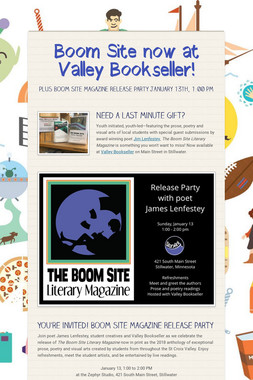 Boom Site now at Valley Bookseller!