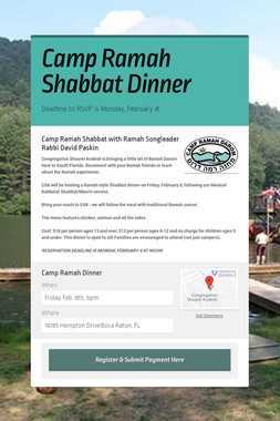 Camp Ramah Shabbat Dinner