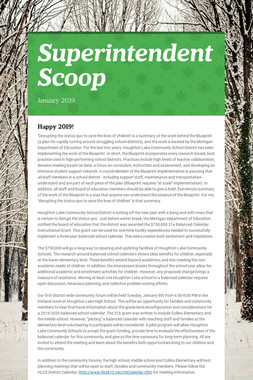 Superintendent Scoop