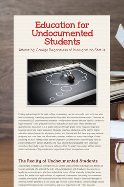 Education for Undocumented Students