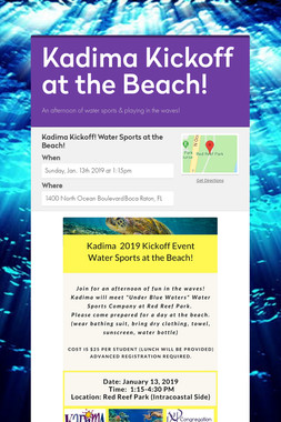 Kadima Kickoff at the Beach!