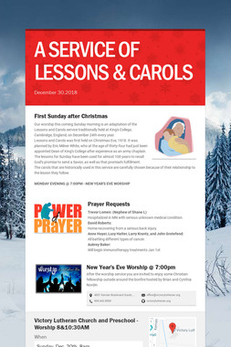 A SERVICE OF LESSONS & CAROLS