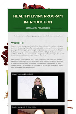 Healthy Living Program Introduction