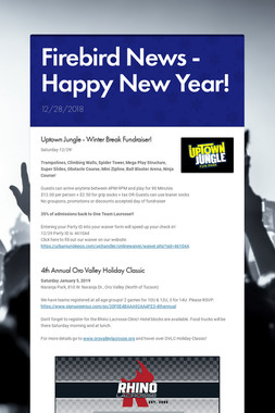 Firebird News - Happy New Year!
