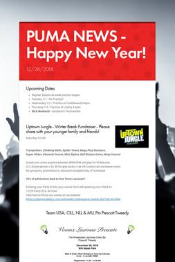 PUMA NEWS - Happy New Year!
