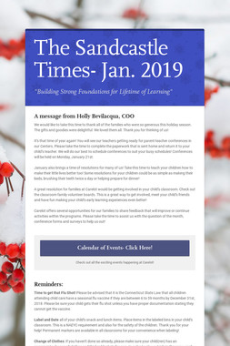 The Sandcastle Times- Jan. 2019