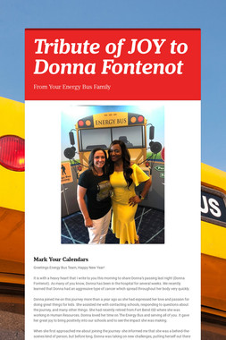 Tribute of JOY to Donna Fontenot