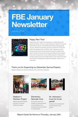 FBE January Newsletter