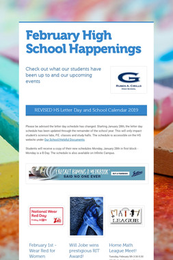 February High School Happenings