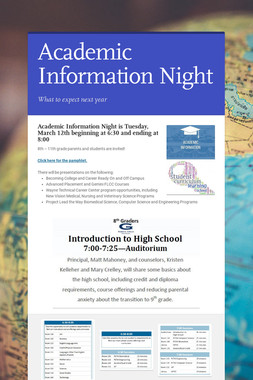 Academic Information Night
