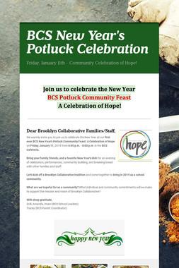 BCS New Year's Potluck Celebration