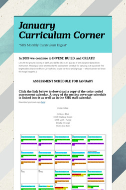 January Curriculum Corner