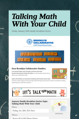 Talking Math With Your Child