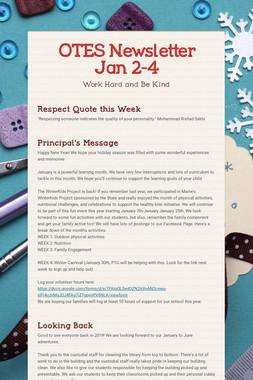 OTES Newsletter Jan 2-4