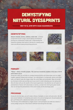 demystifying natural dyes&prints