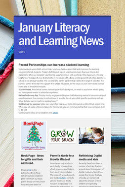 January Literacy and Learning News