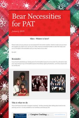 Bear Necessities for PAT