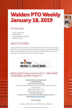Walden PTO Weekly January 18, 2019