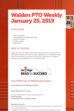 Walden PTO Weekly January 25, 2019