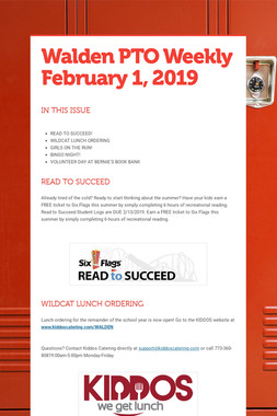 Walden PTO Weekly February 1, 2019